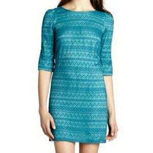 Free People Tegan Bluebird Misty Lace Dress Sz 2